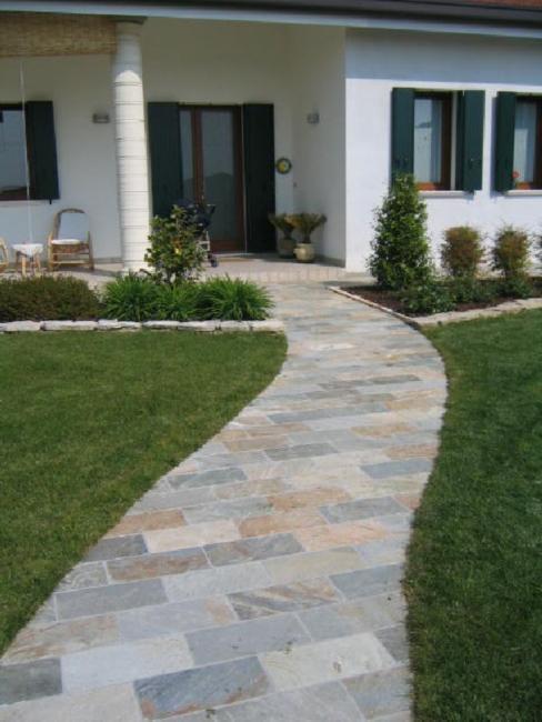 Pavimentazione per esterni piastrelle quarzite - Piastrelle in legno da esterno ...